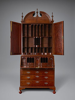 Superieur Christopher Townsend And Samuel Casey, Desk And Bookcase, Newport, R.I.,  1745u201350. Mahogany And Sabicu(?), With Silver Hardware. Private Collection