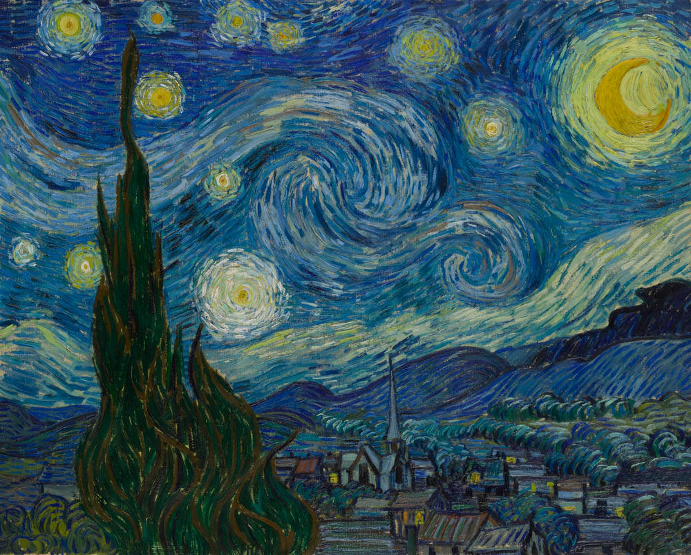 Van Gogh S Cypresses And The Starry Night Visions Of