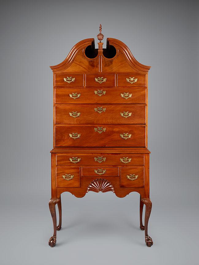 Benjamin Baker, High Chest Of Drawers, Newport, 1760u201375. Mahogany  (primary); Spanish Cedar, Yellow Poplar, And Pine (secondary).