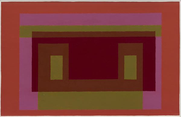 Josef Albers Variant Tension Between Reds 1948 1952 Oil On Masonite Yale University Art Gallery Gift Of Anni And The Foundation