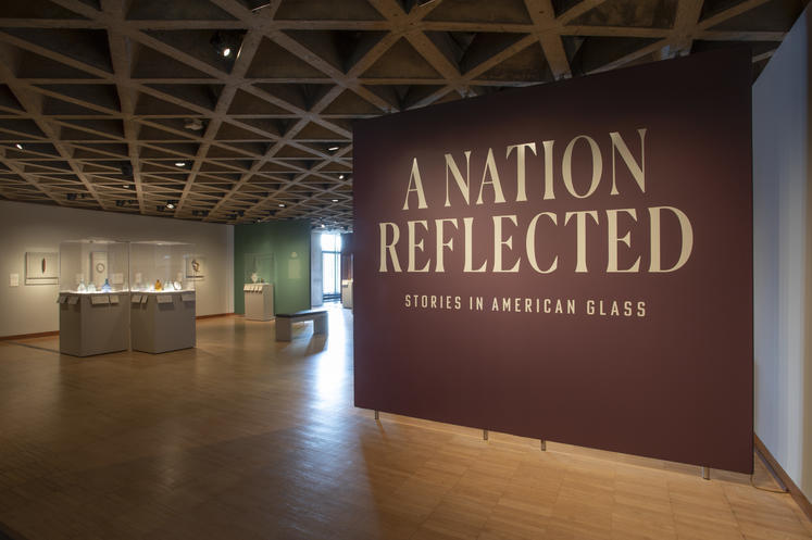 Installation view of A Nation Reflected