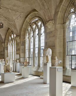 View of Ancient art sculpture hall.