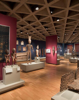 View of Indo-Pacific art galleries.