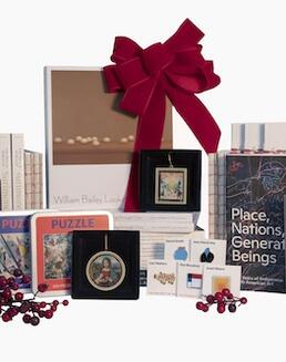 Books, pins, puzzles, and other 2020 holiday sale items.
