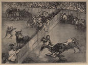 Francisco de Goya, <em>Bullfight in a Divided Ring</em>, 1825