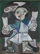 Pablo Picasso's First Steps painting.