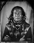Will Wilson (Diné [Navajo]), Will Wilson, Citizen of the Navajo Nation, Trans-customary Artist, from the series Critical Indigenous Photographic Exchange (CIPX), Denver Art Museum, 2013. Archival pigment print from wet-plate collodion scan. Courtesy the artist