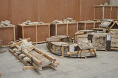Disassembled and stored traditional buildings in Doha, Qatar. Photo: Trinidad Rico