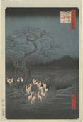 Utagawa Hiroshige, New Year's Eve, Fox Fires by the Nettle Tree at Oji