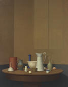 William Bailey, Turning, 2003. Oil on linen. Private collection. © William Bailey/Betty Cuningham Gallery