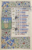 Book of Hours, French, 15th century. Tempera and ink on vellum. Yale University Art Gallery, Library transfer