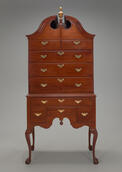 High chest of drawers, Newport, R.I., 1760-80. Mahogany. Yale University Art Gallery, Mabel Brady GarvanCollection