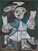 Pablo Picasso, First Steps, 1943. Oil on canvas. Yale University Art Gallery, Gift of Stephen Carlton Clark, B.A. 1903
