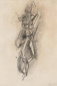 Pablo Picasso, Standing Nude, 1910. Pen and ink. Yale University Art Gallery, Gift of Walter Bareiss, B.S. 1940S