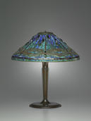 Clara Driscoll, shade designer, and Tiffany Studios, manufacturer, Table Lamp, Corona, N.Y., 1895–1902