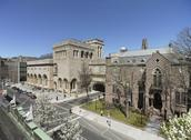 Yale University Art Gallery (l to r: Louis Kahn building, Old Yale Art Gallery building, Street Hall). © Christopher Gardner, 2012
