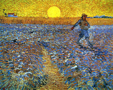 Vincent van Gogh, The Sower, June 1888. Oil on canvas. Kröller-Müller Museum, Otterlo, The Netherlands