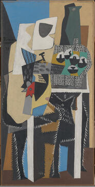 Pablo Picasso, Dog and Cock, 1921. Oil on canvas. Yale University Art Gallery, Gift of Stephen Carlton Clark, B.A. 1903