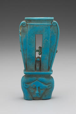 Sistrum (Rattle) with the Head of Hathor, ca. 304–30 B.C.E.