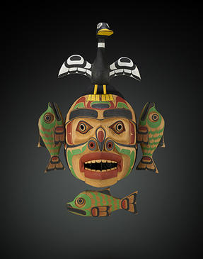 Sea Monster Mask, 1999. Wood, plastic, textile, and paint